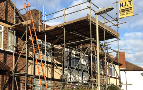 Scaffolding, loft conversions with loading bays